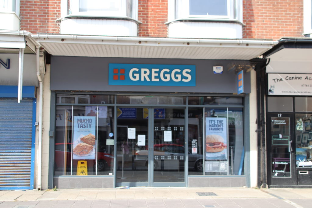 Exterior of Greggs