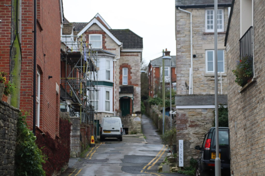 Mount Pleasant Lane off High Street, Swanage