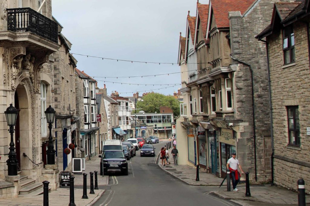 High Street by Swanage Town Hall