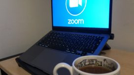 Zoom call with tea