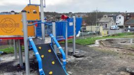 Swanage Recreation Playground under construction