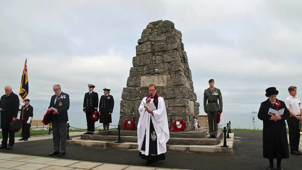 Remembrance Sunday at Swanage war memorial
