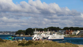 Sandbanks ferry from Shell Bay dunes