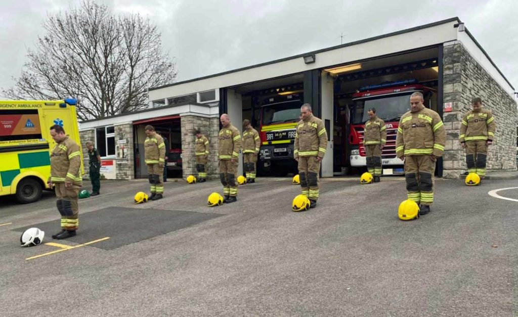 Swanage Fire Station marks Remembrance Day
