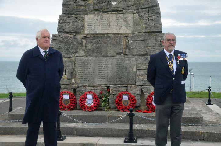 Swanage Town Mayor, Mike Bonfield and Chairman of Swanage British Legion, Steve Churchill