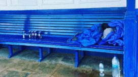 Swanage beach shelter