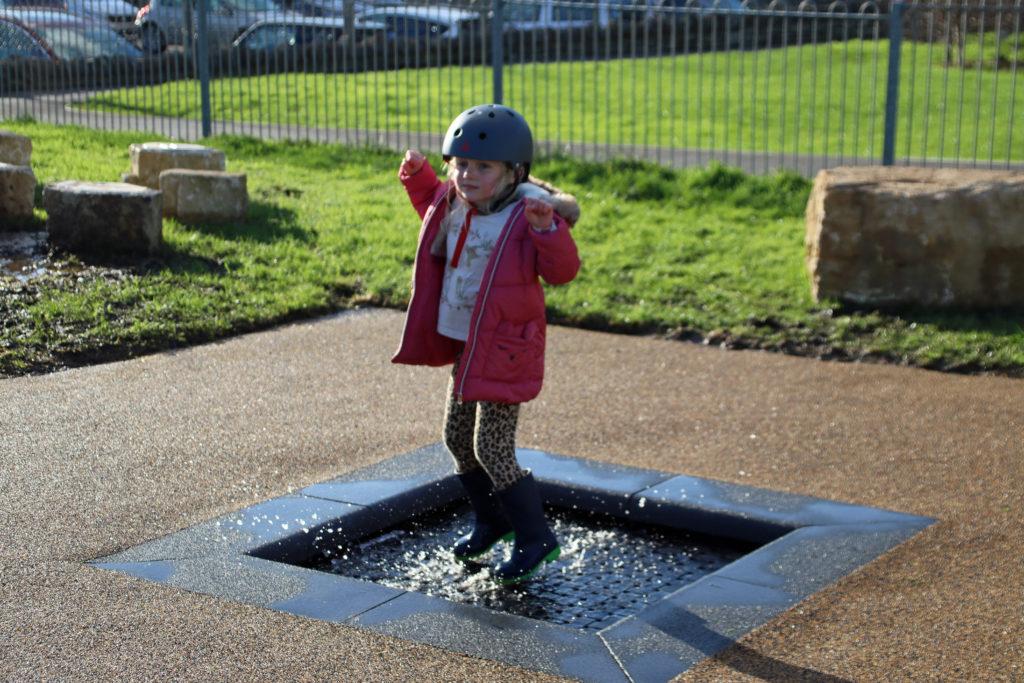 Trampoline at Swanage playground