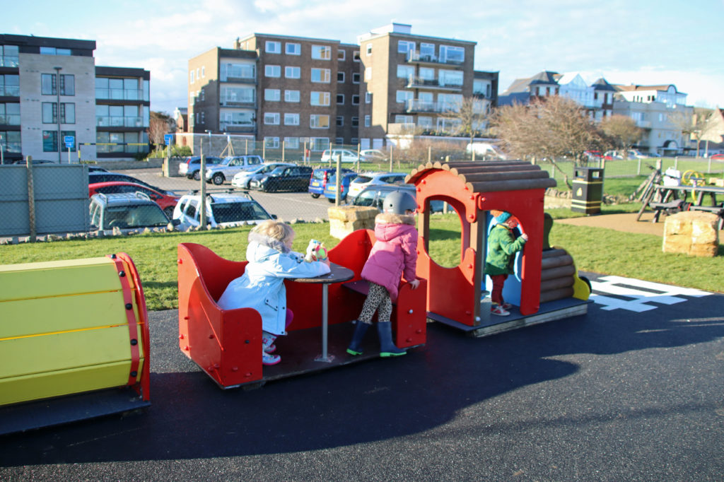 Play train in playground
