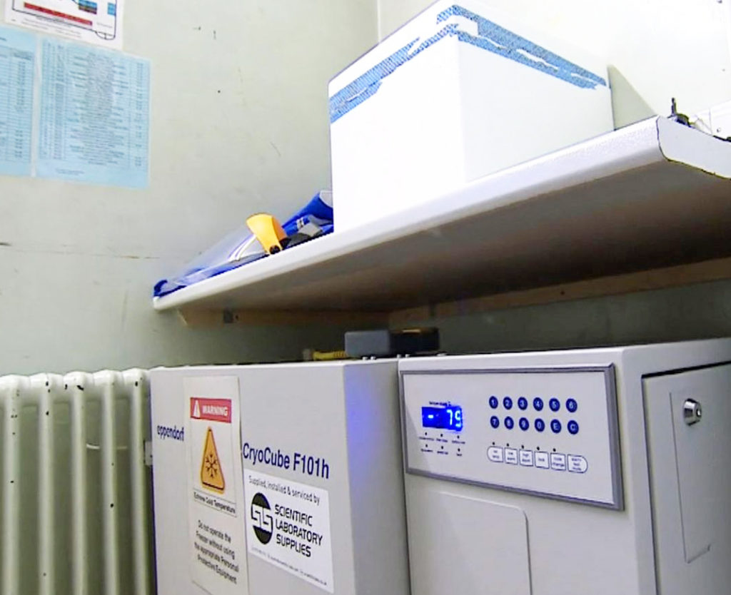 Hospital freezer to store the Covid vaccine