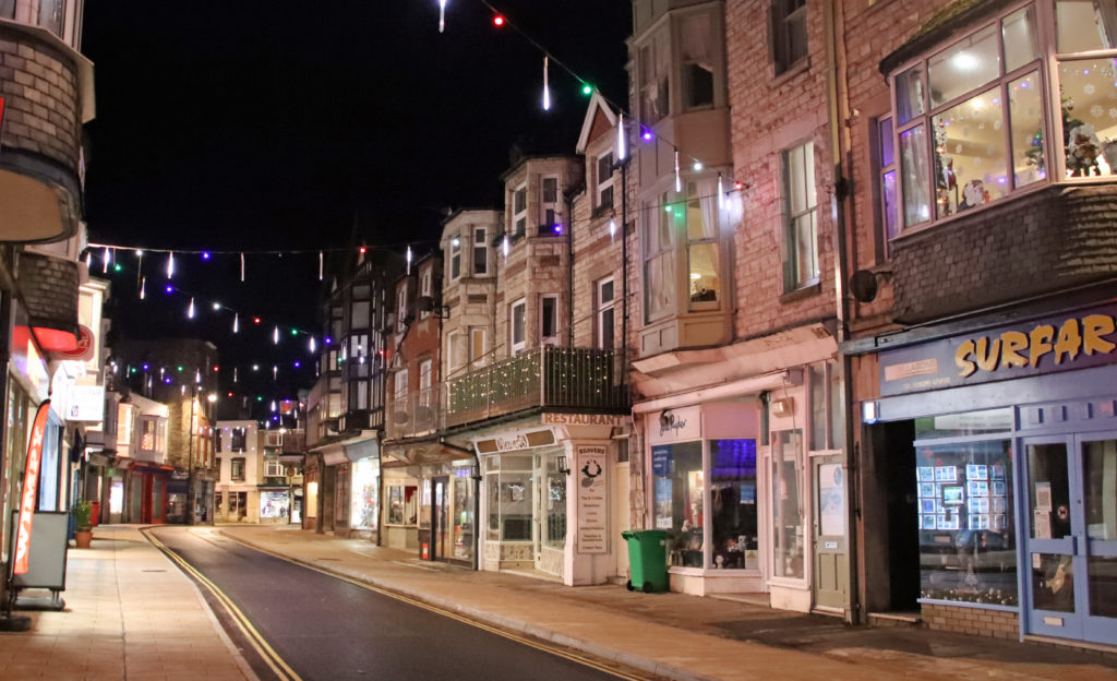 Christmas lights in Institute Road 2020
