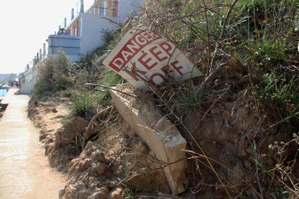 North beach landslip