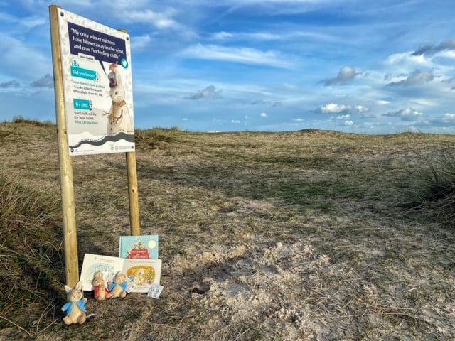 Peter Rabbit trail at Studland