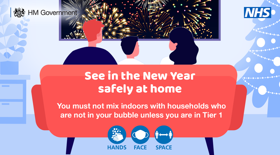See in the New Year safely at home poster