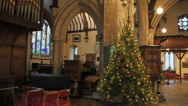 Christmas Tree in St Mary's Church