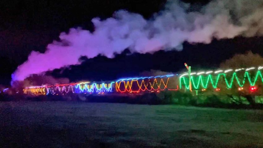 The Steam and Lights train