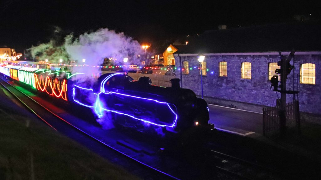 Swanage Railway Steam and Lights at Swanage Station