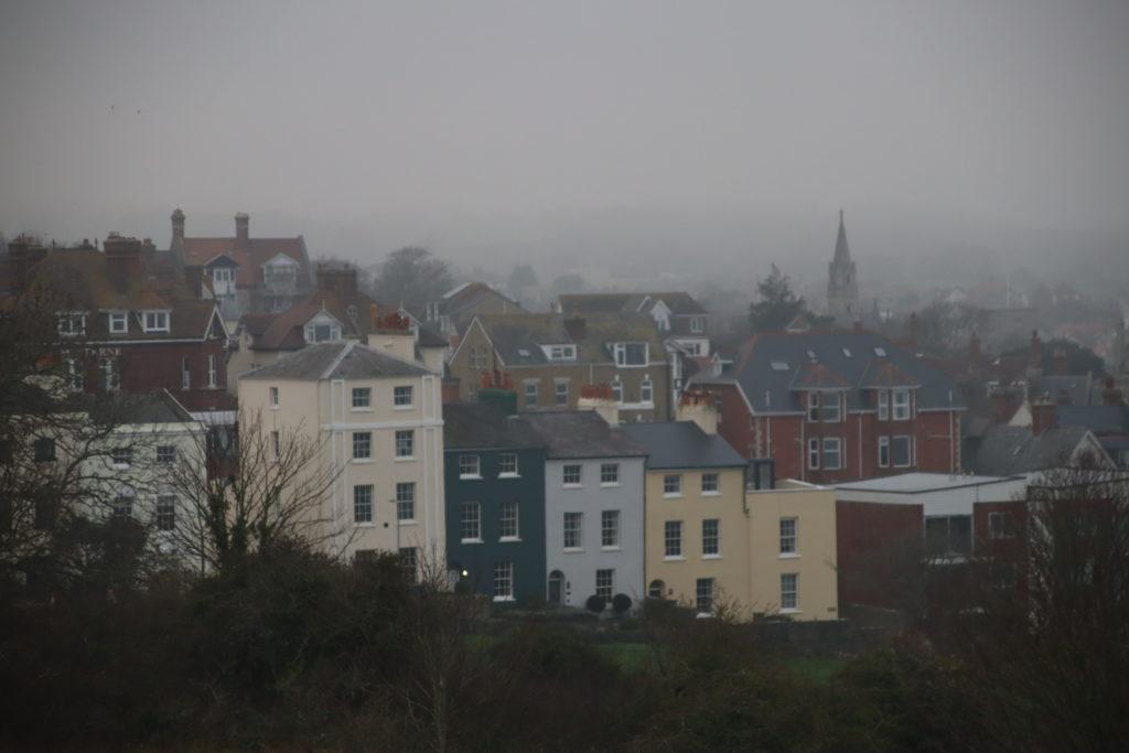 Swanage fog in December 2020
