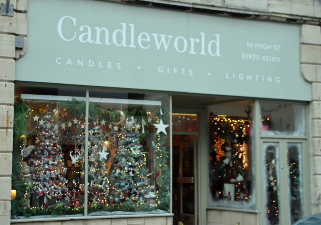Candleworld shop front in High Street