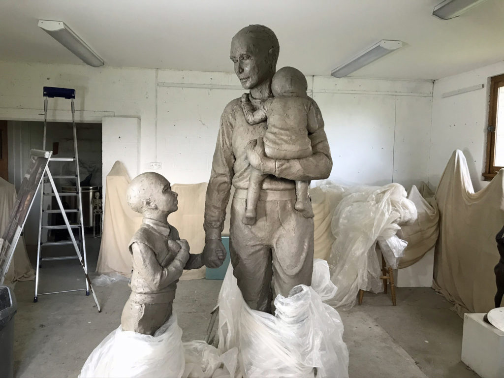 The Trevor Chadwick statue starts to take shape in clay