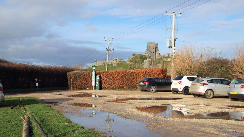West Street car park in Corfe Castle