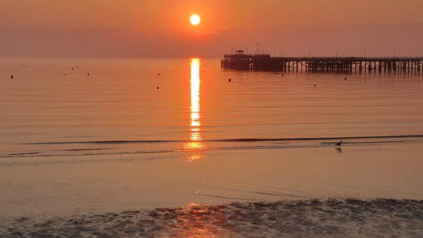 Sunrise over Swanage Pier - 12th April 2020