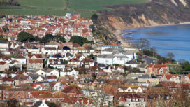 Aerial view of Swanage from Townsend