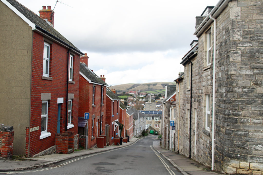 Houses in Queen's Road in Swanage