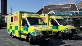 Ambulances outside Dorset County Hospital