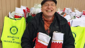 Christmas stockings delivered to Swanage residents
