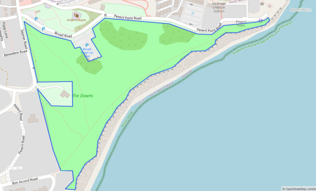Map of Swanage Downs
