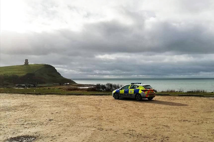 Purbeck police at Kimmeridge