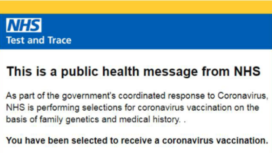 Covid vaccine scam email