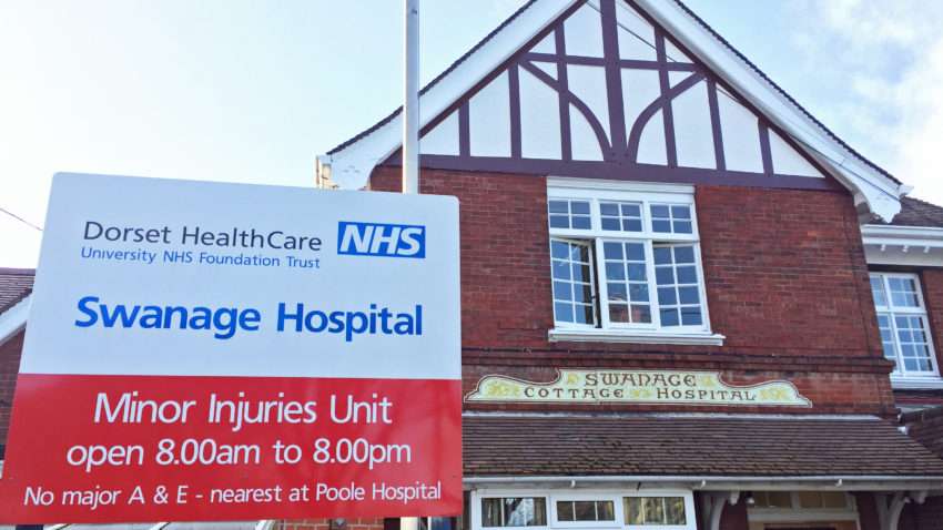 Exterior of Swanage Hospital