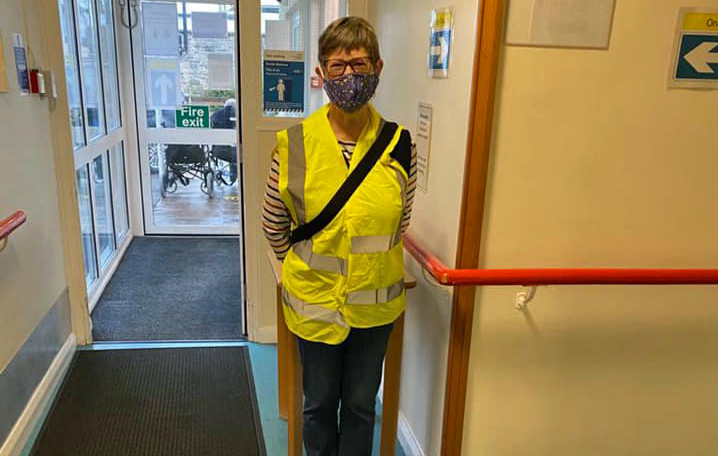 Volunteer at Wareham Hospital vaccination hub