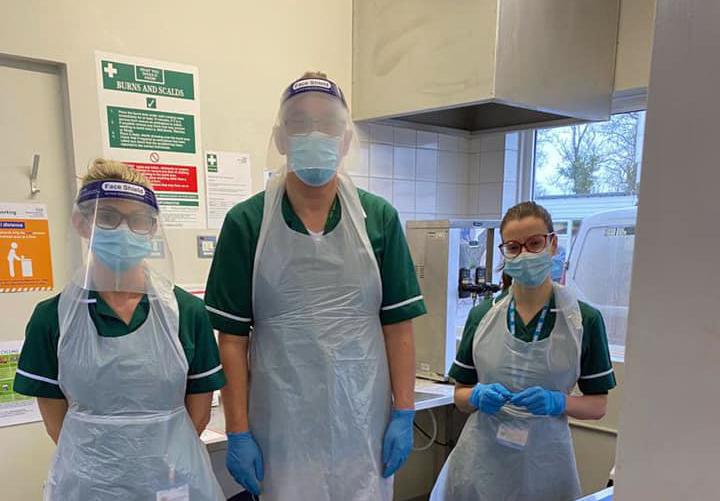 Wareham Hospital vaccination hub staff