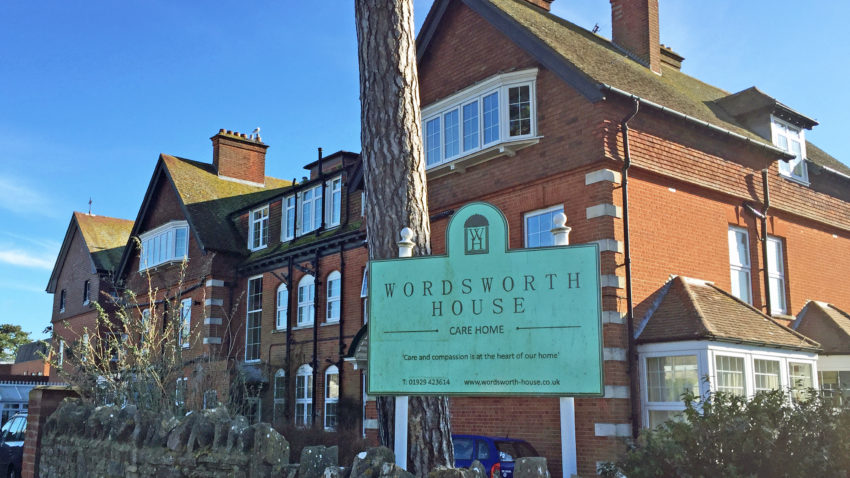 Exterior of Wordsworth House Care Home