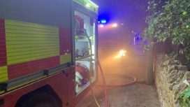 Fire pump attends night time call out
