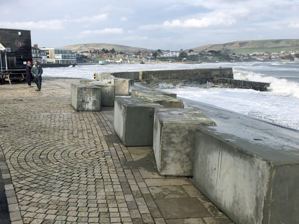 Flood defences moved by sea