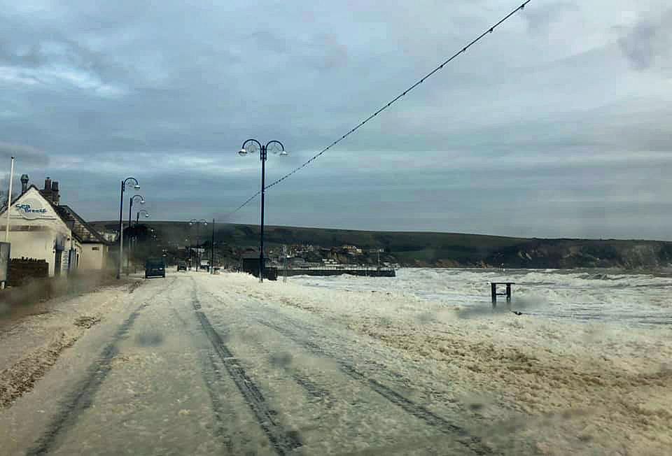 Foam on Swanage seafront