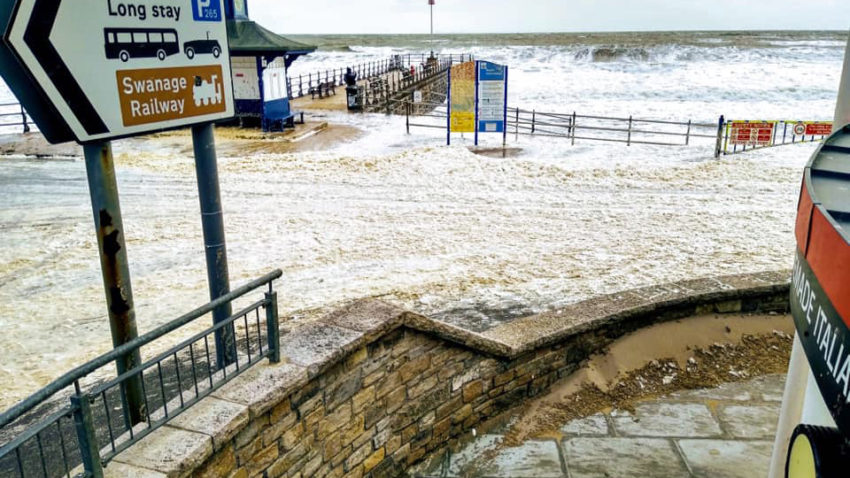 Seafoam on Swanage seafront