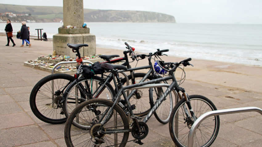 Bikes on Swanage seafront