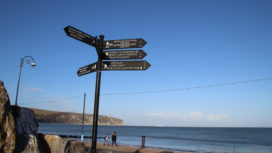 Swanage signpost