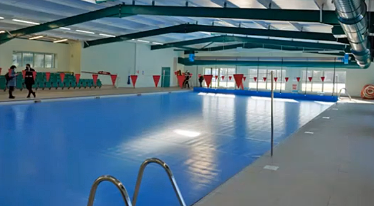 Swimming pool at St Mary's, Shaftesbury