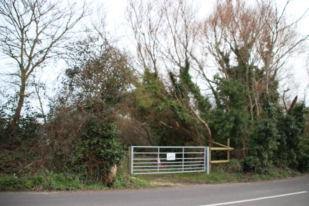 Site of the proposed gypsy site off Ulwell Road