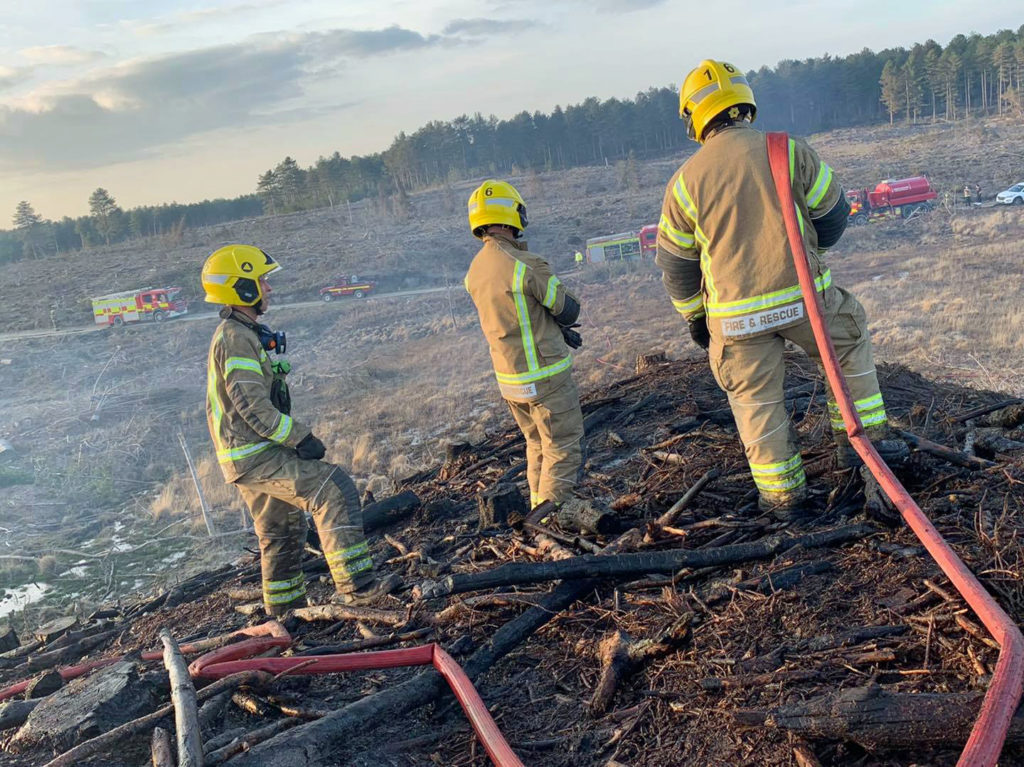 Firefighters at Rempstone heath fire