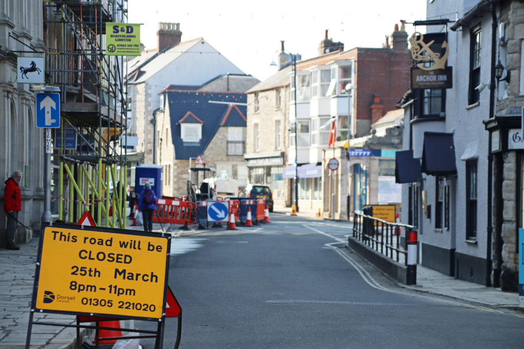 High street roadworks
