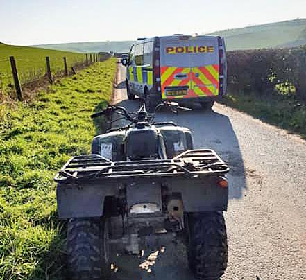Purbeck Police seize quad bike