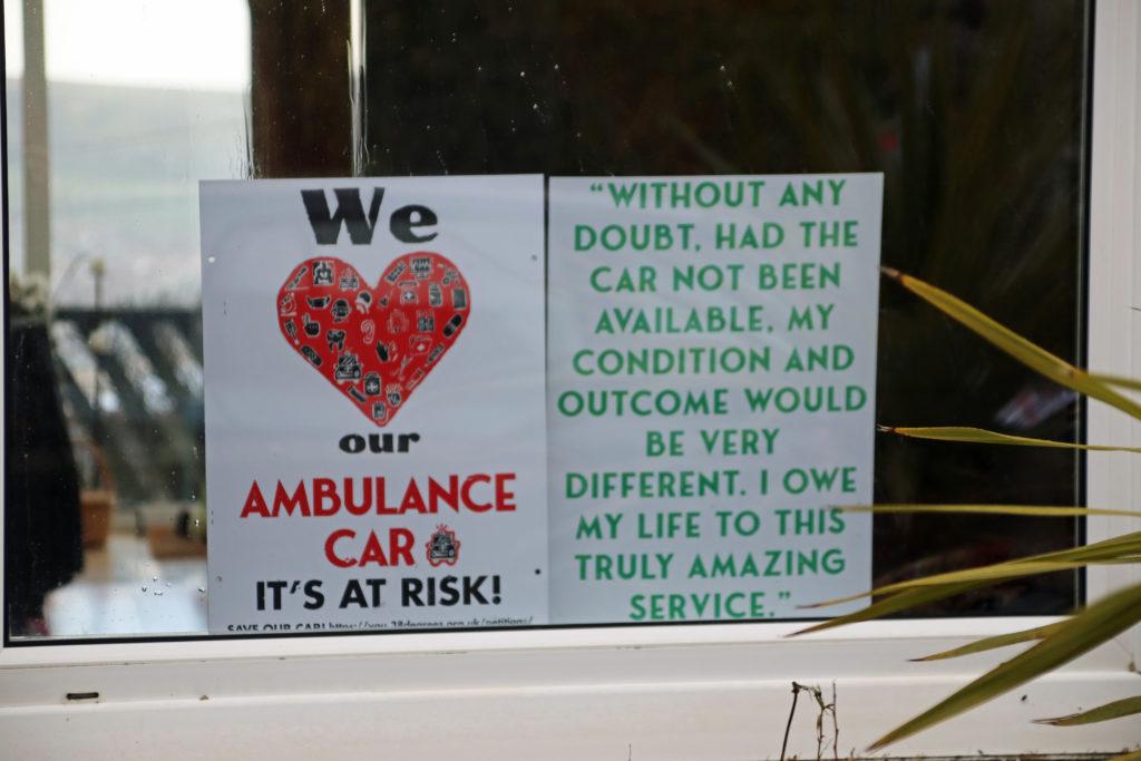 Save our paramedic car poster
