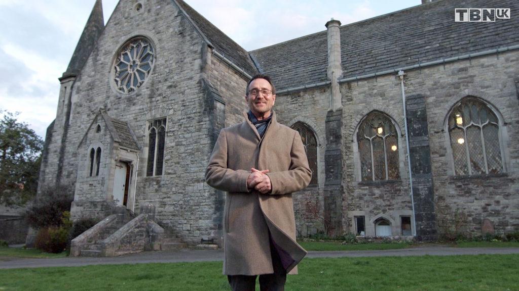 Simon Lole outside St Mary's Church