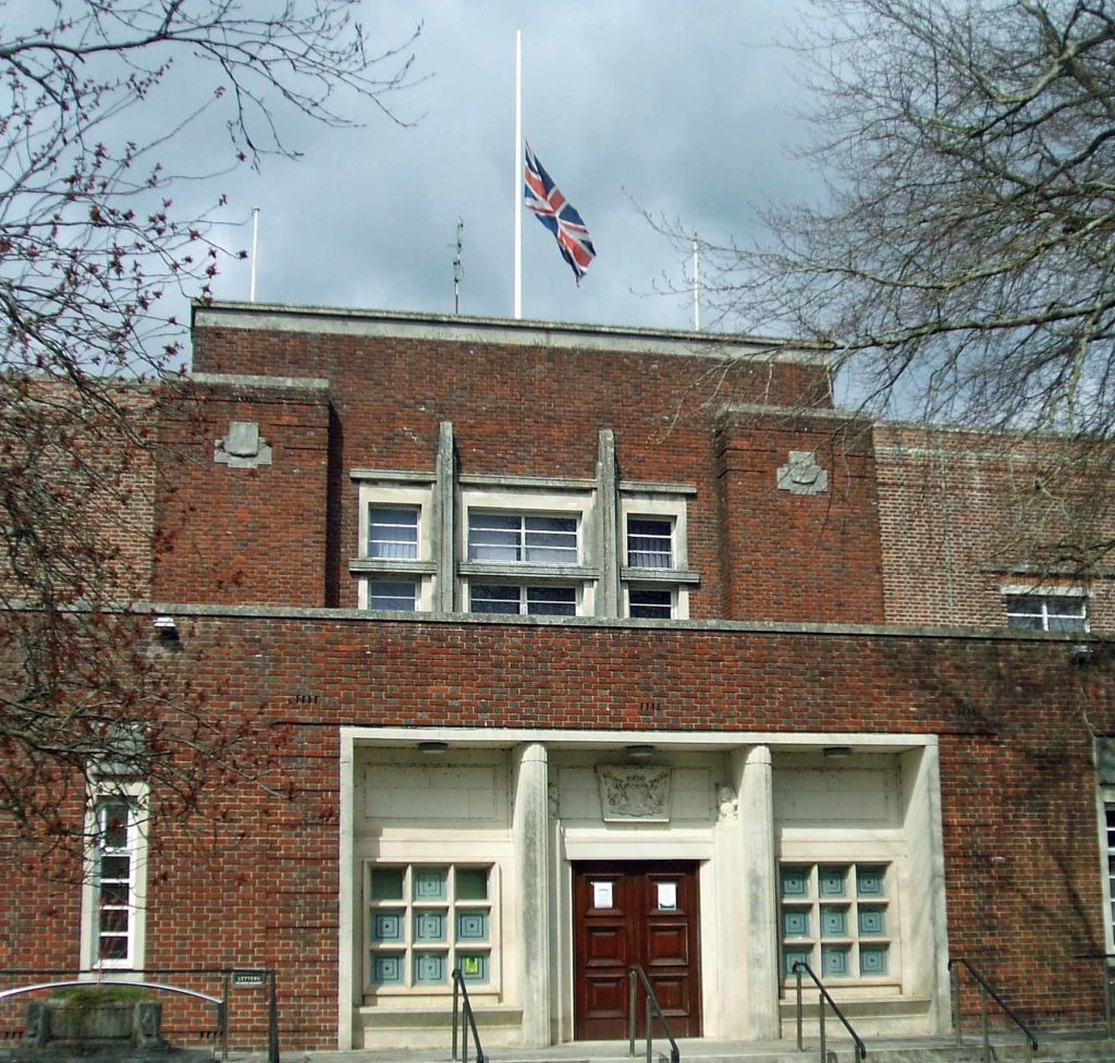 County Hall flag at half mast